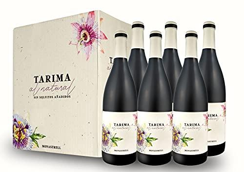 BODEGAS Y VIÑEDOS VOLVER | Vino Tinto Tarima Natural | Pack de 6 Botellas | Cosecha de 2019 | D. O. Alicante | 100% Uva Monastrell | Plantación Entre 1982-1987 | (6 Botellas de 750 ml)
