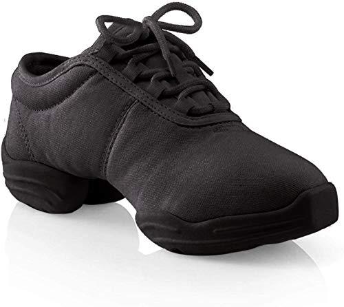 Capezio Canvas Dance Sneaker,Black,8.5 M US