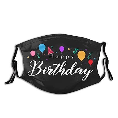 Weda My Birthday - Máscara para adultos con filtro, máscara facial para exteriores, lavable, reutilizable, protección ajustable, filtro de carbón activado de 5 capas (unisex)