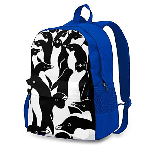 Penguins Crowd Rucksack Tasche Gym Dance Bags Geschenk für Mädchen Tochter Junge Geburtstagsgeschenk für Kinder Teen 12.6x16.5 Zoll
