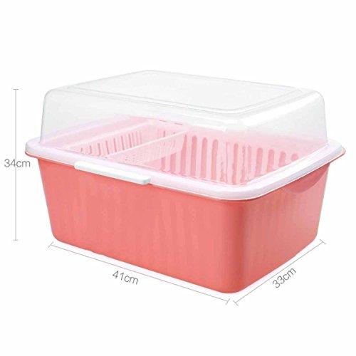 DZX Boîte De Rangement en Plastique De Baguettes La Boîte à Couverts De Cuisine Big Space À La Mode étagères Chaudes Égouttoir Bowl Rack,C