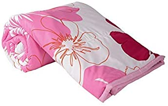 Home Spaces Pink and Red Floral Print Reversible Micro PollyCotton A\C Dohar