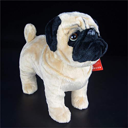 Pugsly Pug Plush Stuffed Animal Puppy Dog, 12 inches