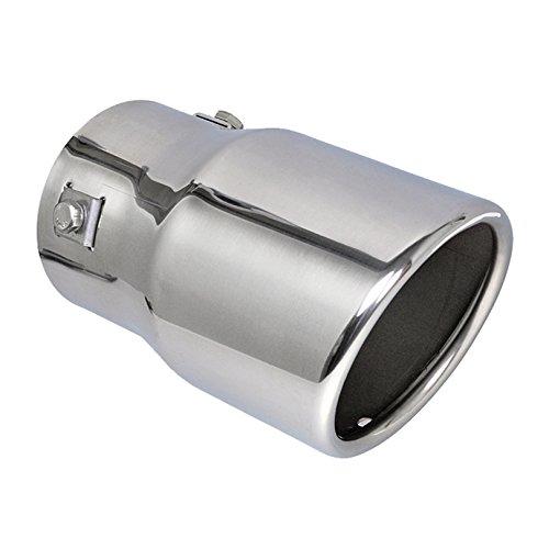 Edelstahl Auspuffblende rund angeschrägt 88mm Anschluß 50-72mm