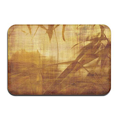 N\A Alfombra de Felpudo de Alfombra de baño de Hojas de árbol de bambú, Alfombra Antideslizante para baño de Entrada de Cocina al Aire Libre Interior