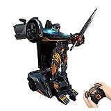JIALI Transformers Toy Toy Remoto Control Modelo de automóvil Control de Voz Inducción de Gesto Deformación de un Solo botón como Regalo para niños y niñas