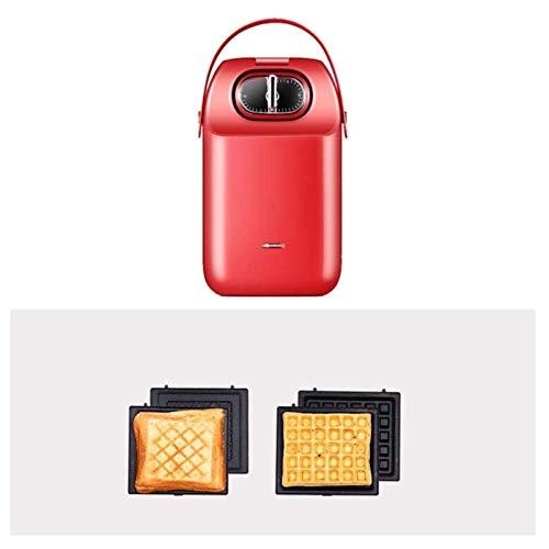 SHUILV Sandwich Toastie Maker con Fabricante de sándwiches Desmontable, fácil de Limpiar, casa de Desayuno a casa