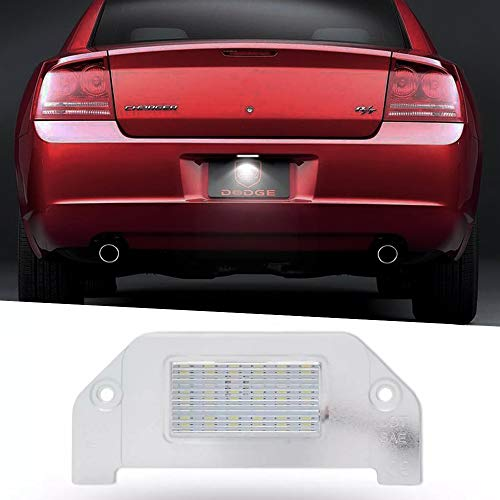 WXQYR 2 pezzi/Set Posteriore per Auto ad Alta luminosità LED Bianco per Targa con Luce Targa per Dodge Dart Challenger Avenger Charger Magnum