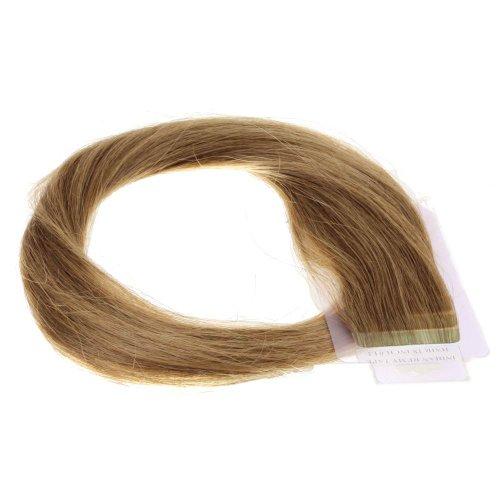 Just Beautiful Hair and Cosmetics Skin Weft Lot de 40 extensions avec bandes adhésives Mèches de 2,5 g et 60 cm
