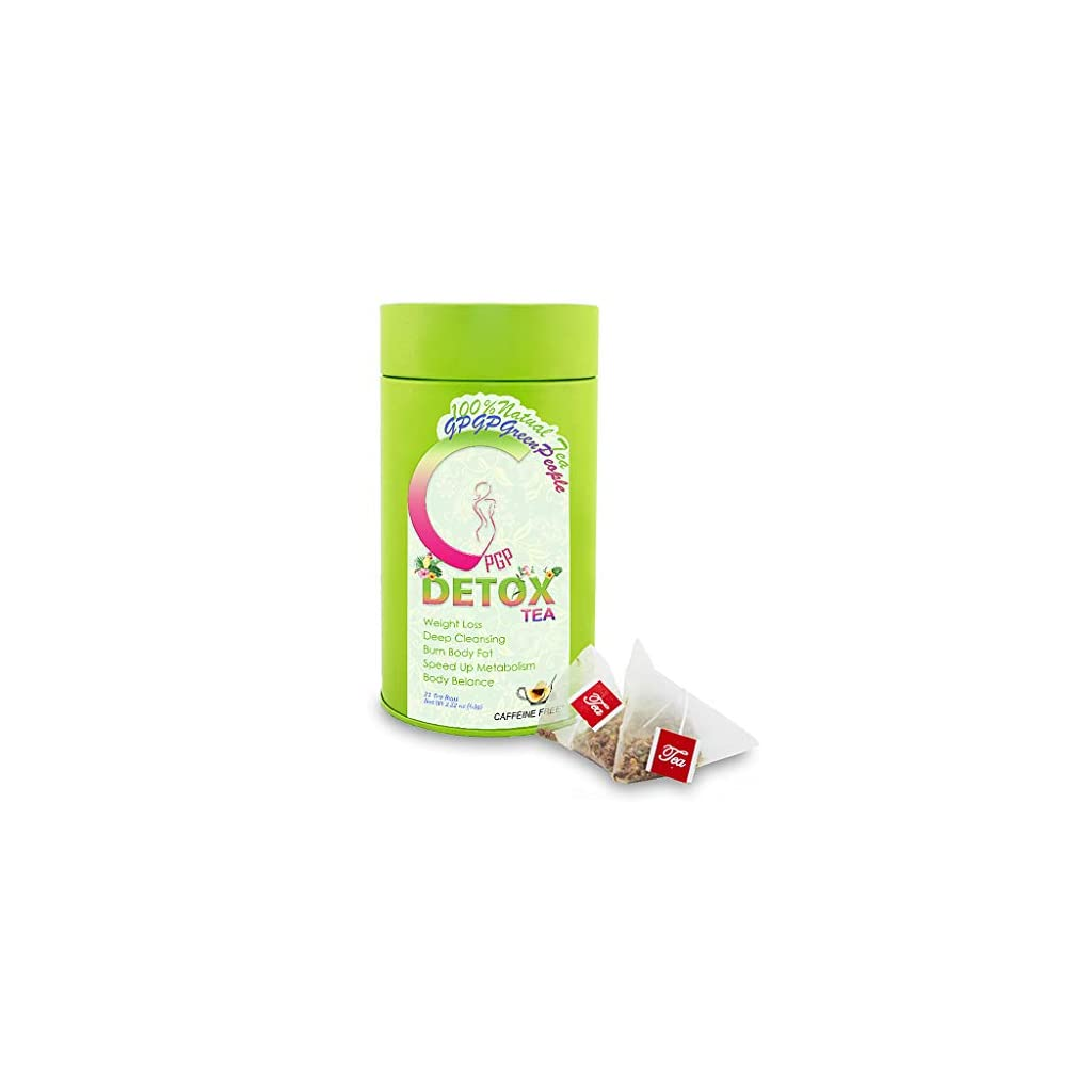 Detox products Detox Tea Diet Tea for Body Cleanse – 28 Day Weight Loss Tea for Women, Natural Ingredients, GPGP GreenPeople Skinny fit…