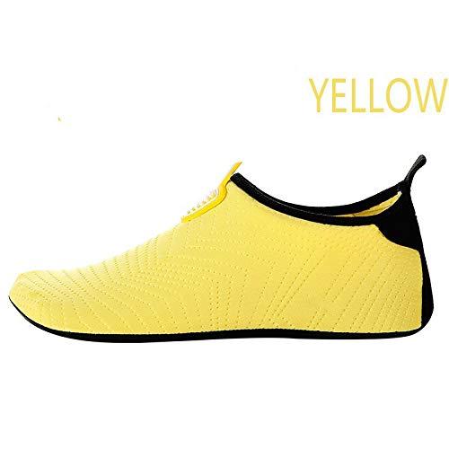Quick-Dry Beach Swim Snorkeling Surf, zapatos de snorkel para hombres y mujeres, zapatos de buceo de fondo suave-Yellow yellow_44-45, zapatos de deportes acuáticos para hombres y mujeres
