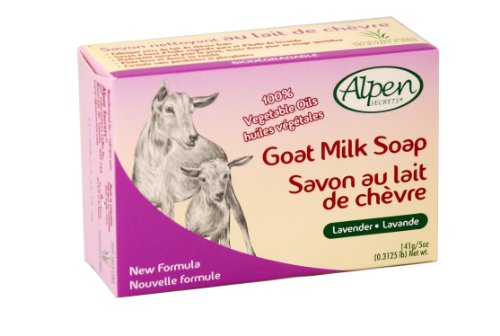 Alpen Secrets Daily Cleansing Goat milk Soap with Lavender Oil, 5-Ounces Bars (Pack of 4)