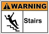 185グレートティンサインアルミ階段警告会社屋外&屋内サイン壁の装飾12x8インチ
