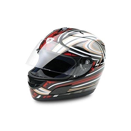 Bottari Motorradhelm Dragon, Integralhelm, Metal Black/Red, Größe L