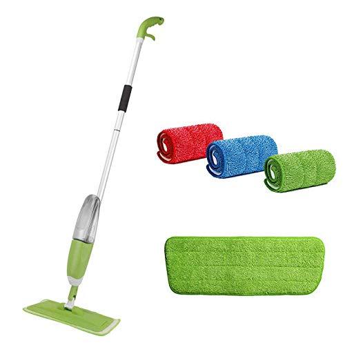 Spray Mop +3 Stks Schoonmaak Doek Hoofd Combinatie Houten Vloer Keramische Tegel Automatische Mop Droge Thuis Schoonmaak Tools-Groen Geen merk