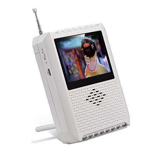 携帯テレビ ポータブルテレビ ラジオ FM/AM/ワイドFM ワンセグポケット アンテナ内蔵 電池/USB給電対応