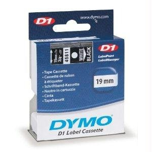 Lowest Prices! Dymo Dymo D1 Tape, White Print/Black Tape, 3/4in X 23ft