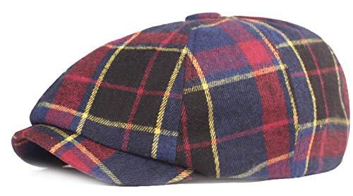 KeepSa Gorras planas para hombre y mujer, 8 paneles, Gatsby Ivy Irish Hat Newsboy