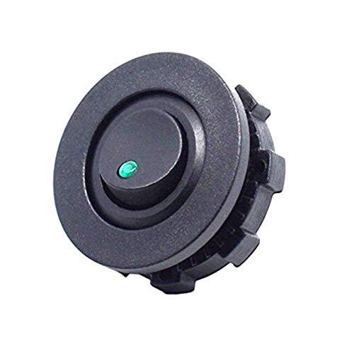 YYOMXXOM Camión de Coche DIY Camino Redondo Rocker Interruptor de Palanca SPST ON-Off Control con el Interruptor de la Carcasa Verde Rojo Azul LED (Color : Green)