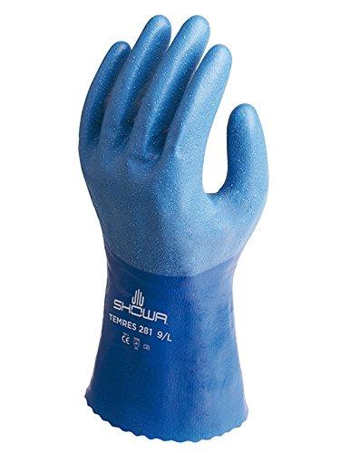 Showa Handschuhe sho281-m TEMRES 281Handschuh, Größe: M, Blau (2Stück)