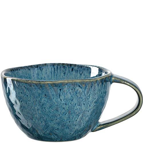 Leonardo Matera Kaffee-Tasse, 1 Stück, spülmaschinengeeignete Keramik-Tasse, 1 mikrowellenfester Becher, Tasse aus Steingut, blau, 290 ml, 018588