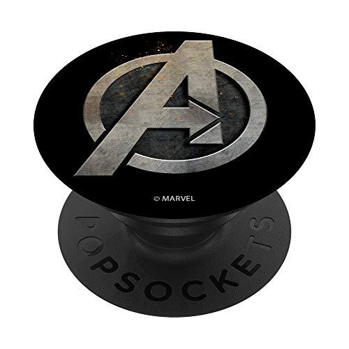 Marvel Avengers Steel Logo PopSockets PopGrip: Ausziehbarer Sockel und Griff für Handys/Tablets mit Tauschbarem Top