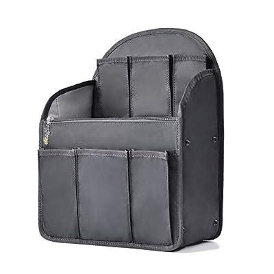 bag in bag Shoulders Bag Rucksack Insert Backpack Organizer fit MCM,Black (Large) from