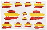 Ecoshirt 7S-64H7-JV0D Pegatinas F207 Stickers Aufkleber Decals Moto GP Bike Coche, Colores Bandera España y Spain Flag Colors