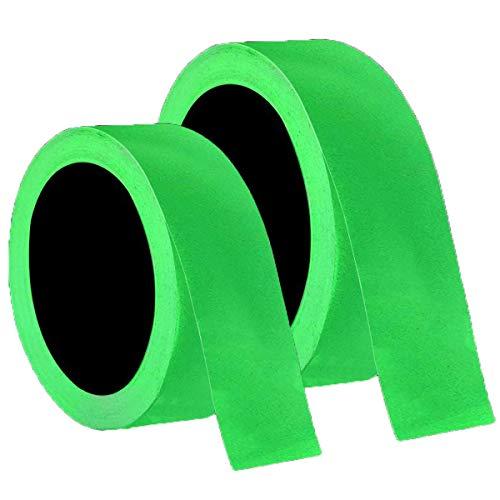 Mengger Leuchtendes Klebeband 2Pcs Selbstklebendem Fluoreszierendes Phosphor Nachleuchtend Wasserdicht Markierungsband Luminous Tape Tape Warnband Bühnenbedarf 15mm*10m,10mm x 10m