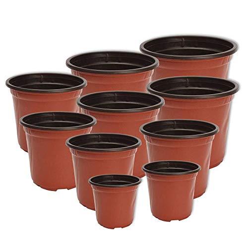 CTOBB 100 Pz/Set Vaso di Fiori Vasi per Piante in plastica Desktop Pianta in Vaso da Giardino Pianta da vivaio Morbida Vaso da Fiori per la casa Strumenti per la vegetazione 12 Dimensioni, 11X8X9 cm