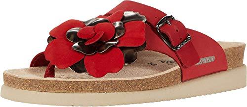 Mephisto Women's Helen Flower Sandals red 8 M US