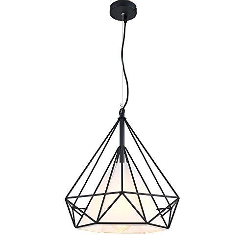 Lonfenner Salone minimalista moderno lampadario ristorante piccolo Lampadario diamante Lampadario birdcage Lampadario Lampadario in ferro battuto lampadario d'epoca industriale vento 30 * 30cm