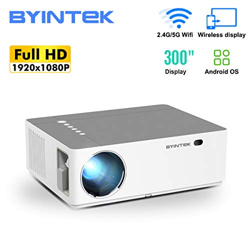 Extaum BYINTEK K20 Smart 1080P Full HD Projector 500 ANSI Lumens LED Video Video Proyector con Sistema operativo Android WiFi Pantalla inalámbrica Compartir Compatible con