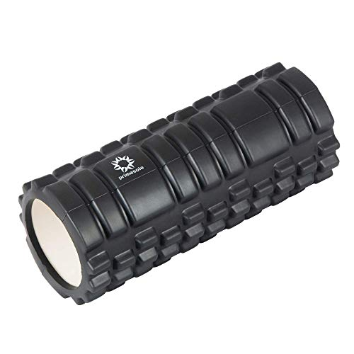 PRIMASOLE Massage Foam Roller. Loosen Tight Muscle of Back, Neck, Hip, Leg & Foot. with Carry Case for Travel (Black Color) 440LB Load Limit PSS91NH033A