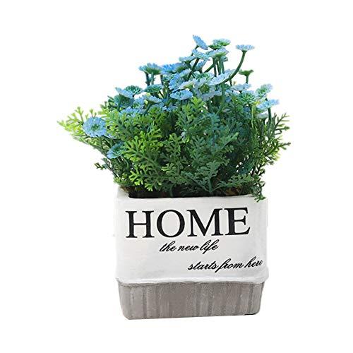 BOENTA Plantas Artificial Decorativas Plantas Artificiales Decorativas Plantas Artificiales en Interiores en macetas De Planta Cuarto de baño Plantas Blue