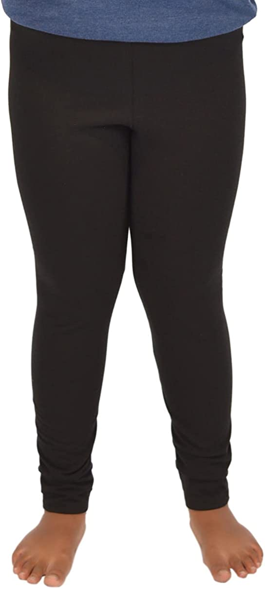 Girl's Plus Size Oh So Soft Ankle Leggings Size 6 to 12 Made in The USA