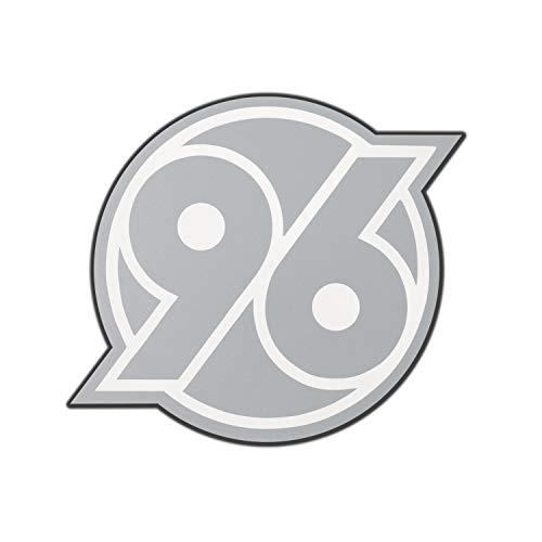 Hannover 96 Aufkleber - transparent Silber - Sticker, Autoaufkleber H96 - Plus Lesezeichen I Love Hannover