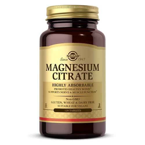 Solgar | Magnesiumcitraat | 200 mg | Mineraal energiemetabolisme | 120 veganistische tabletten