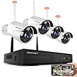 SMONET Wireless Security Camera Systems,8-Channel Full HD 1080P Surveillance NVR Kits,4pcs 1080P(2.0 Megapixel)
