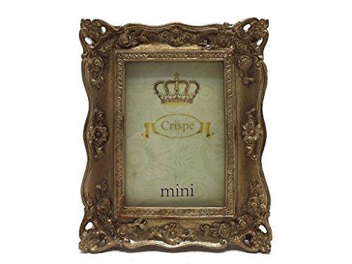 Crispe Bilderrahmen Corleone im Antik-Look in Antikgold Größe 10,5 x 13 cm - Bildmaß 6 x 9 cm Rahmen Bild Foto Barock