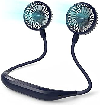 AmaCool Battery Operated Neckband Personal Fan