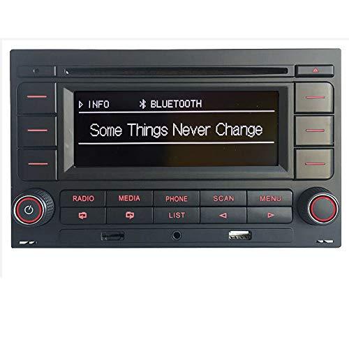 Autoradio stereo auto RCN210 for Per VW Golf 4 golf 5 POLO Passat B5 USB MP3 AUX Bluetooth incorporato con lettore CD+adattatore con simulatore Canbus
