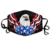 American Flag And Bald Eagle Patriotic Black Printed Facial Decorations For Women And Men