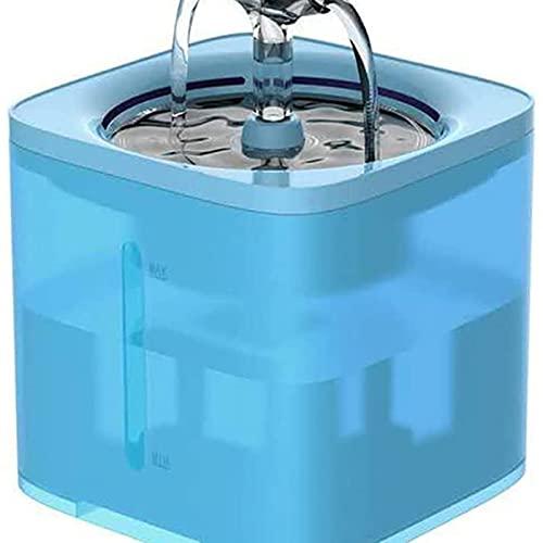 Dispensadores de agua para masco Fuente de agua de los gatos automáticos con el dispensador de bebidas del perro del grifo que bebe los bebedores transparentes para los gatos alimentador de filtro de