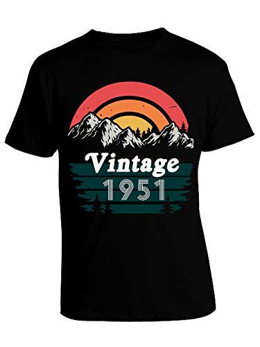 bubbleshirt T-Shirt Maglietta Regalo Compleanno 70 Anni Vintage 1951 Mountain - retrò - Idea Regalo Compleanno - Maglietta Compleanno