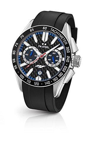 TW Steel Reloj Cronógrafo para Hombre de Cuarzo con Correa en Caucho GS2