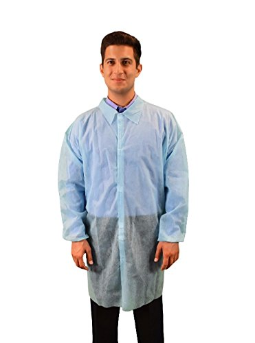 Keystone Ranking TOP12 LC0-BE-NW-V-LRG-BLUE Polypropylene Lab No Coat Pocket Max 53% OFF