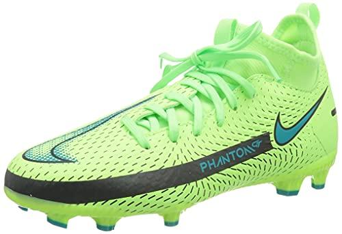 Nike JR Phantom GT Academy DF FG/MG, Scarpe da Calcio, Lime Glow/Aquamarine-off Noir, 34 EU