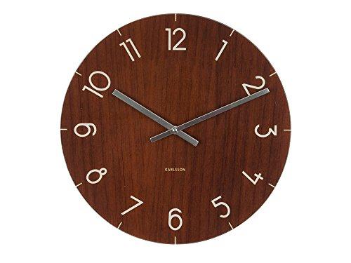 Present Time Karlin 7074 Montre en verre effet bois foncé