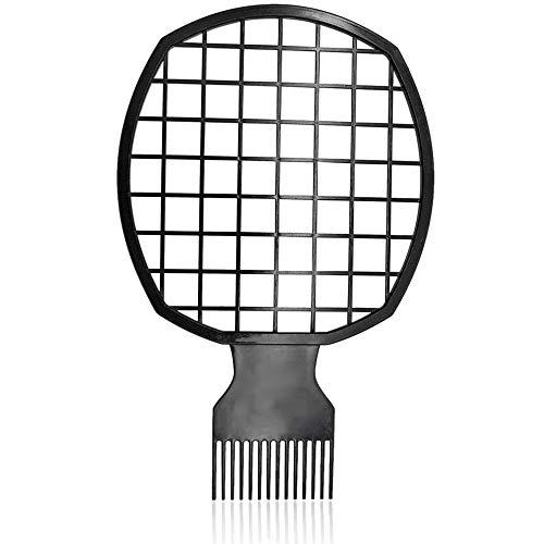 TOOGOO Afro Twist Comb Portable Deux-En-Un Peigne à Cheveux pour Boucles Naturelles Twists Curls Dreads Outil de Coiffure pour Noir Africain (Noir)